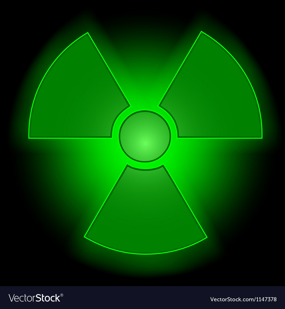 Glowing radioactive symbol vector | Price: 1 Credit (USD $1)