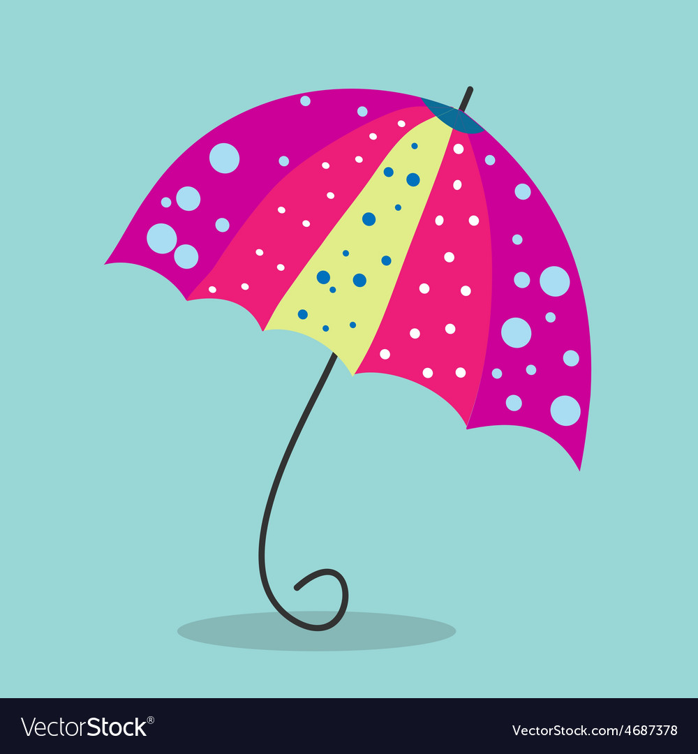 Multicolored umbrella-cane - a symbol of summer vector | Price: 1 Credit (USD $1)