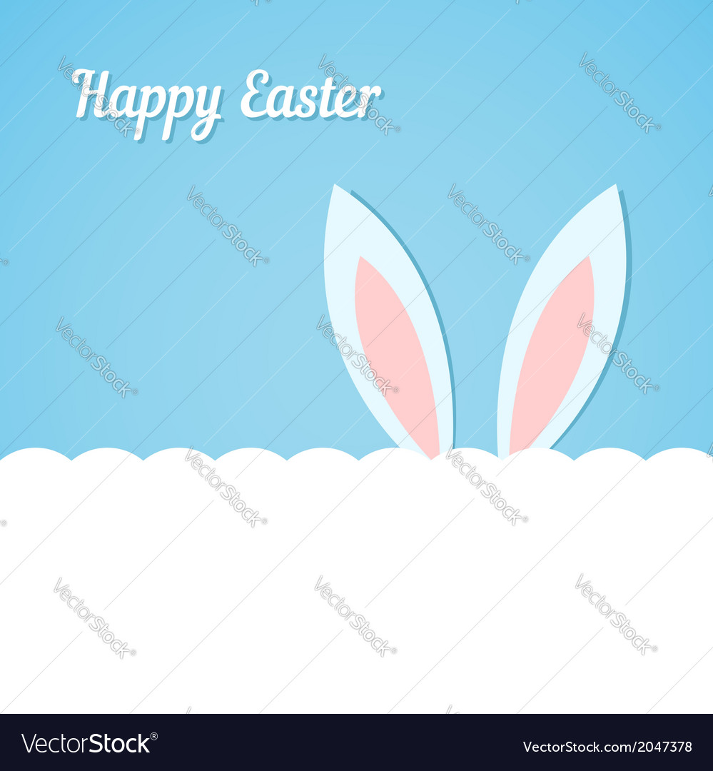 Rabbit ears easter banner vector | Price: 1 Credit (USD $1)