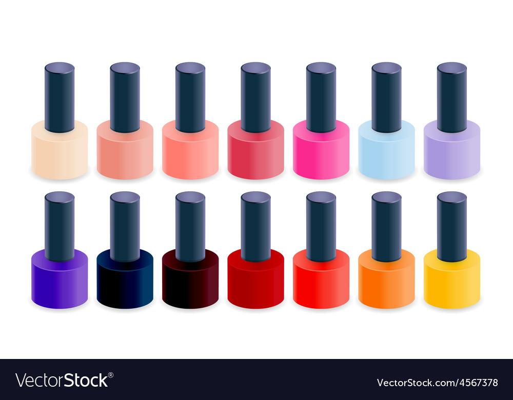 Realistic nail polish vector | Price: 1 Credit (USD $1)