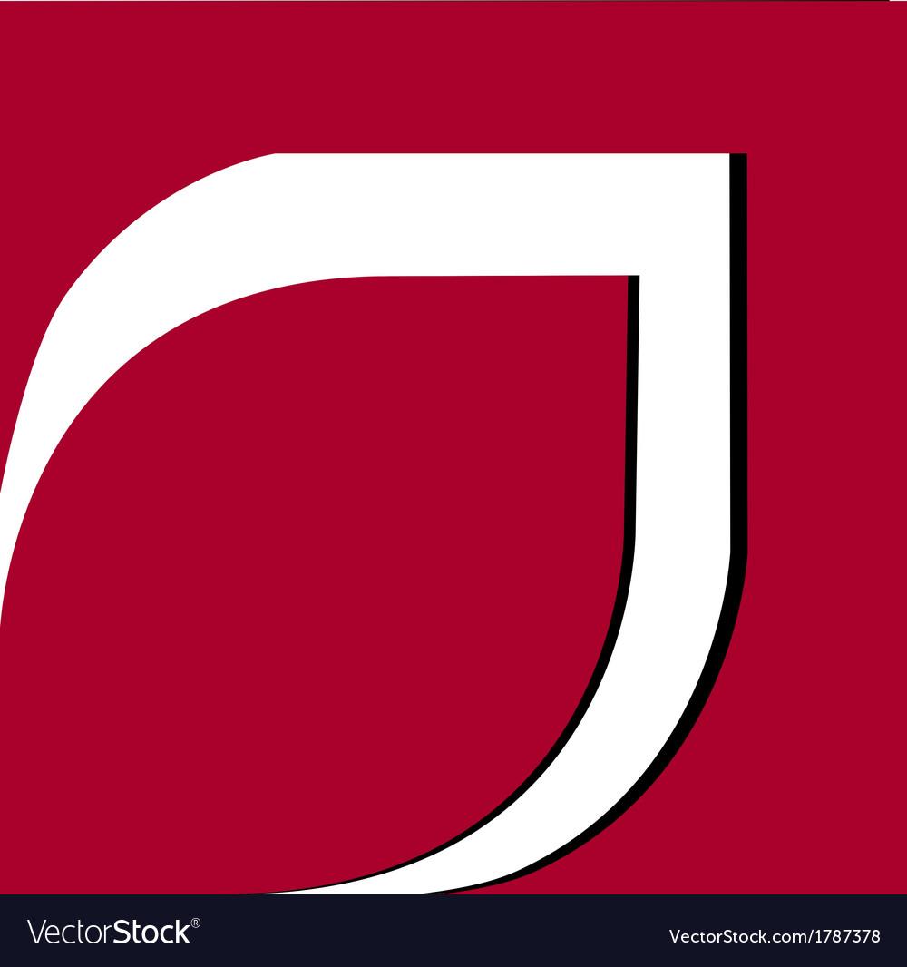 Red leaf frame logo vector | Price: 1 Credit (USD $1)