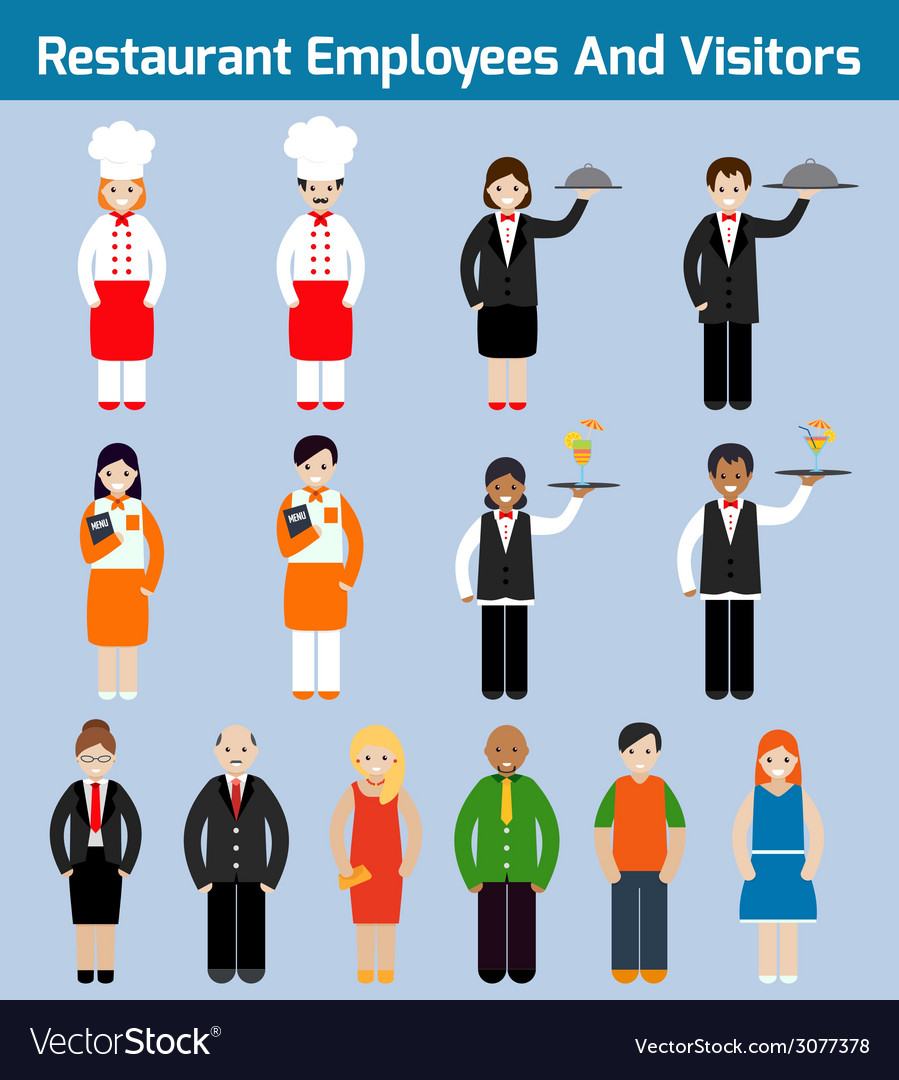 Restaurant employees flat vector | Price: 1 Credit (USD $1)