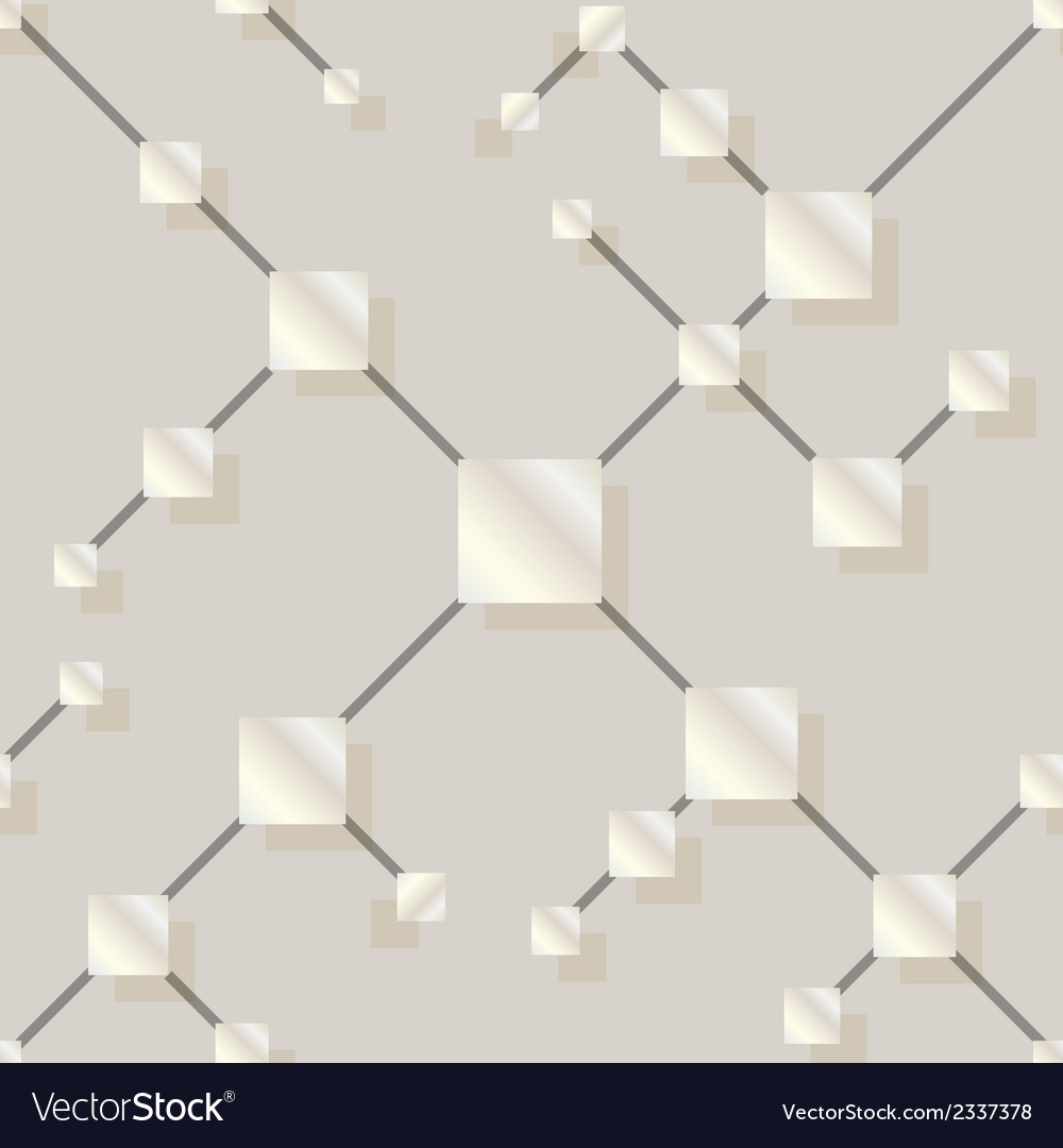 Seamless pattern with silver squares vector | Price: 1 Credit (USD $1)