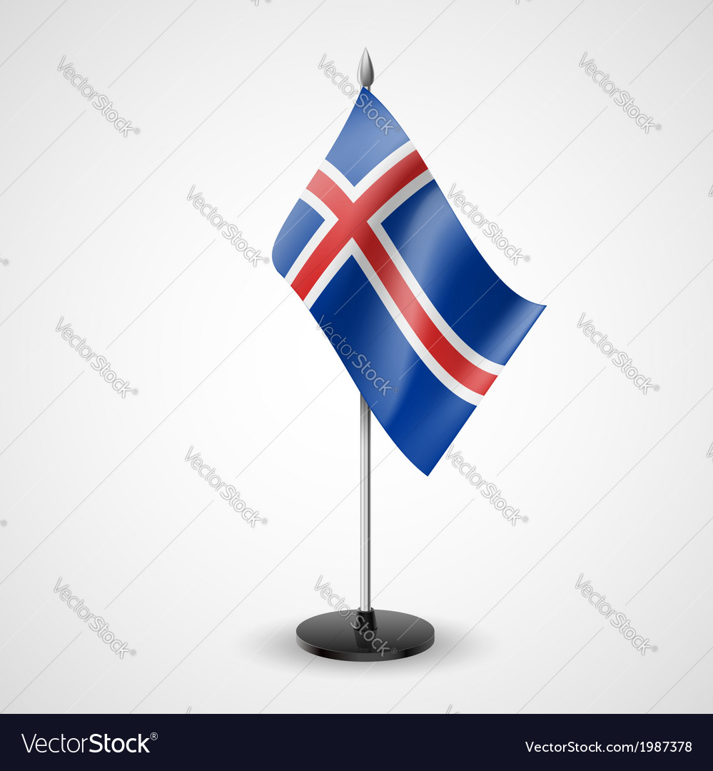 Table flag of iceland vector | Price: 1 Credit (USD $1)