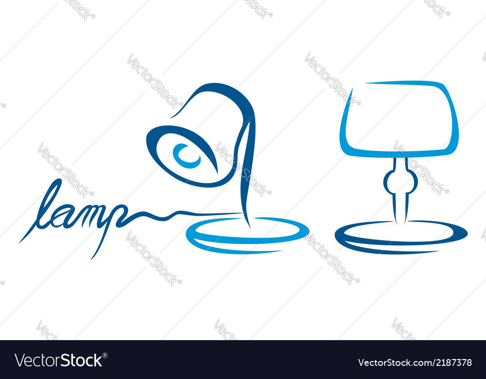 Table lamps vector | Price: 1 Credit (USD $1)