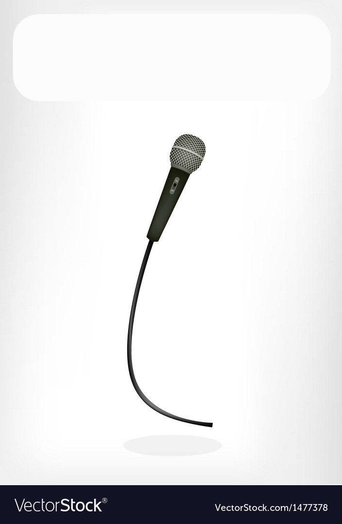 Wireless microphone white banner vector | Price: 1 Credit (USD $1)