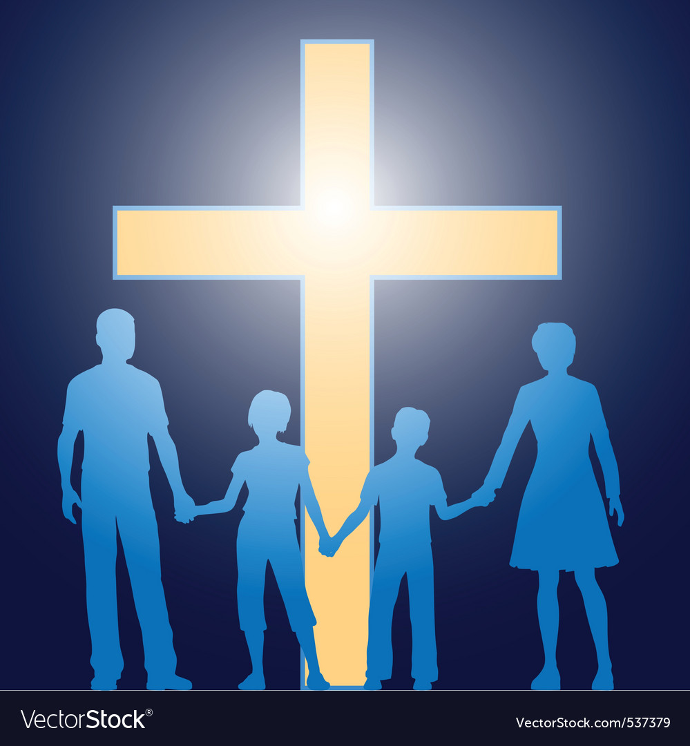 Church family vector | Price: 1 Credit (USD $1)