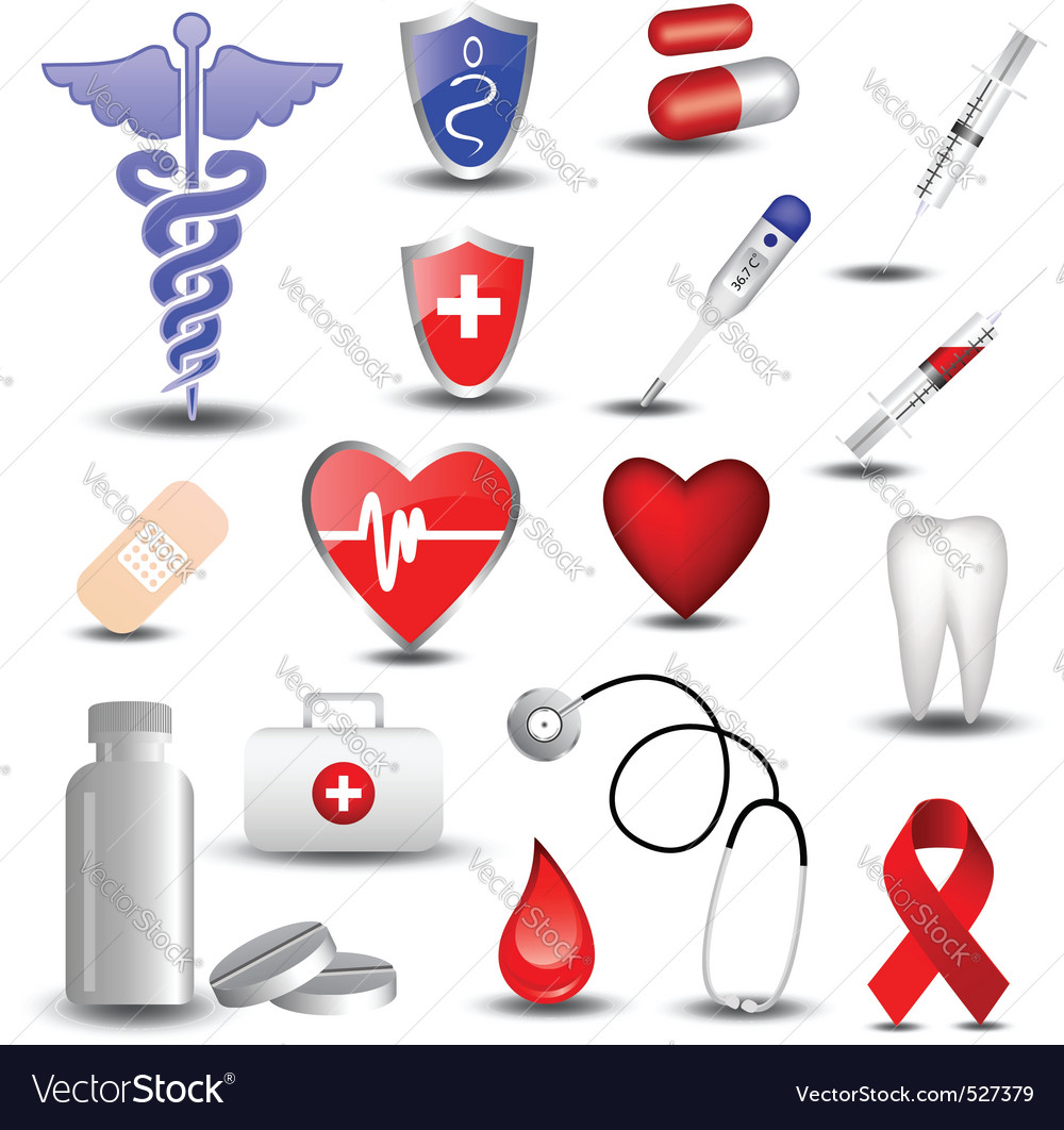 Collection of medical icons vector | Price: 1 Credit (USD $1)