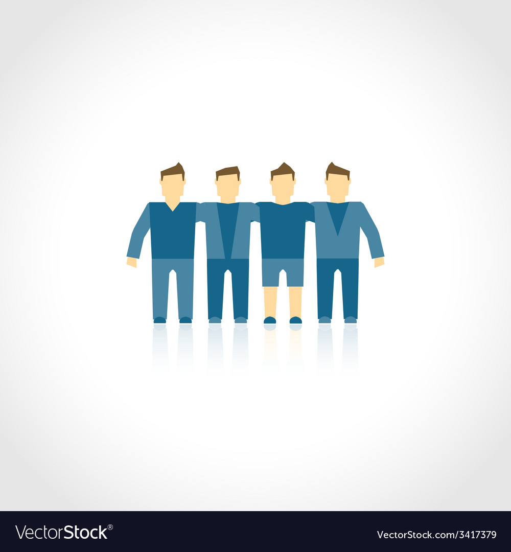 Friends icon flat vector | Price: 1 Credit (USD $1)
