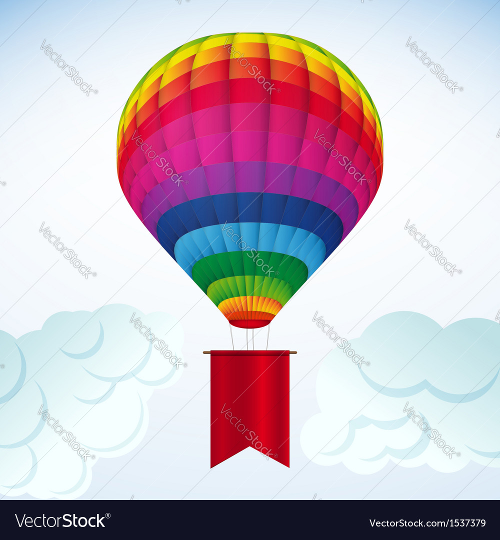 Hot air balloon background vector | Price: 1 Credit (USD $1)