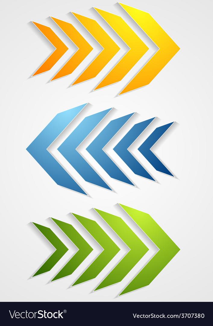 Abstract bright arrows vector | Price: 1 Credit (USD $1)