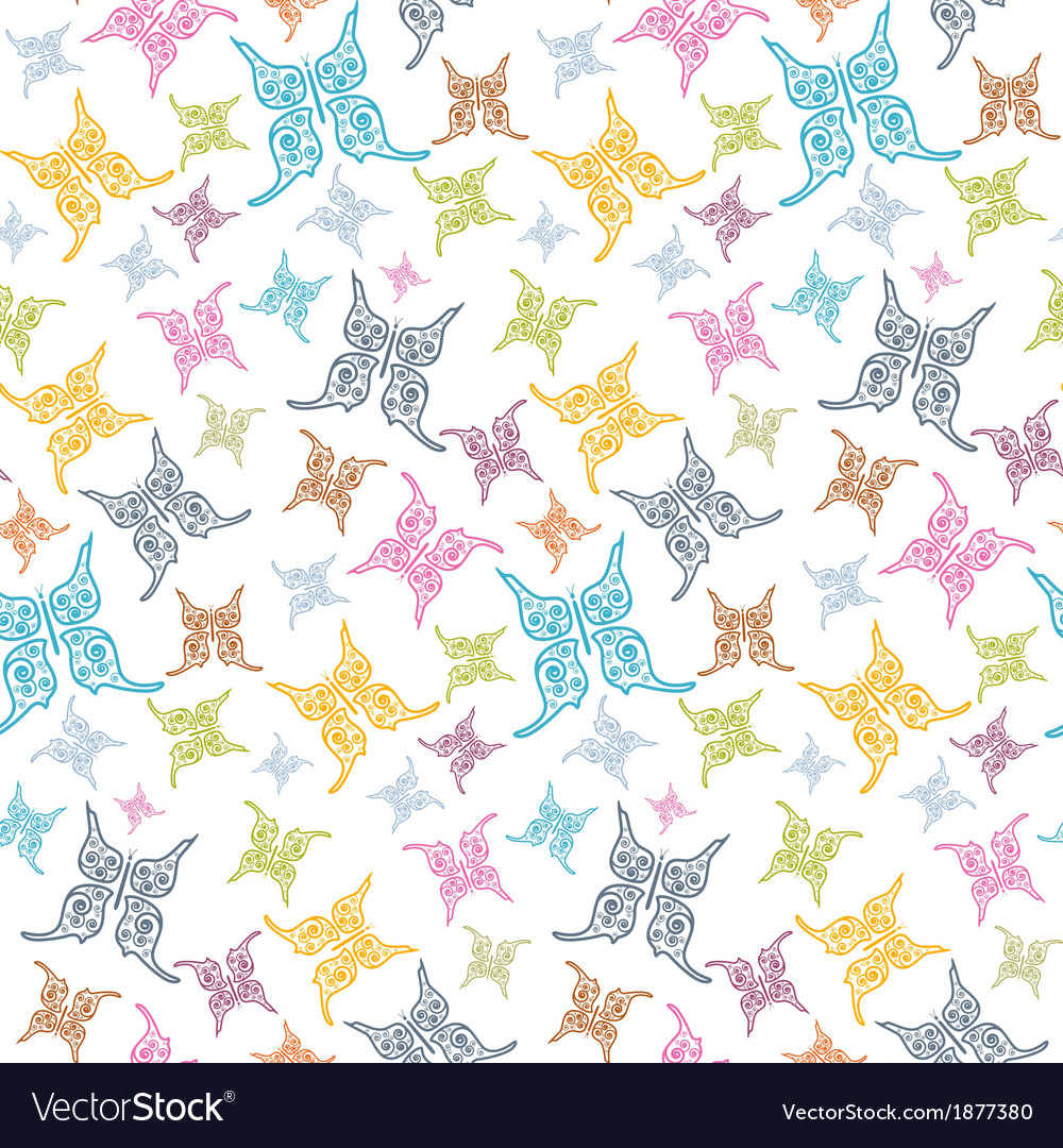 Butterflies seamless background vector | Price: 1 Credit (USD $1)