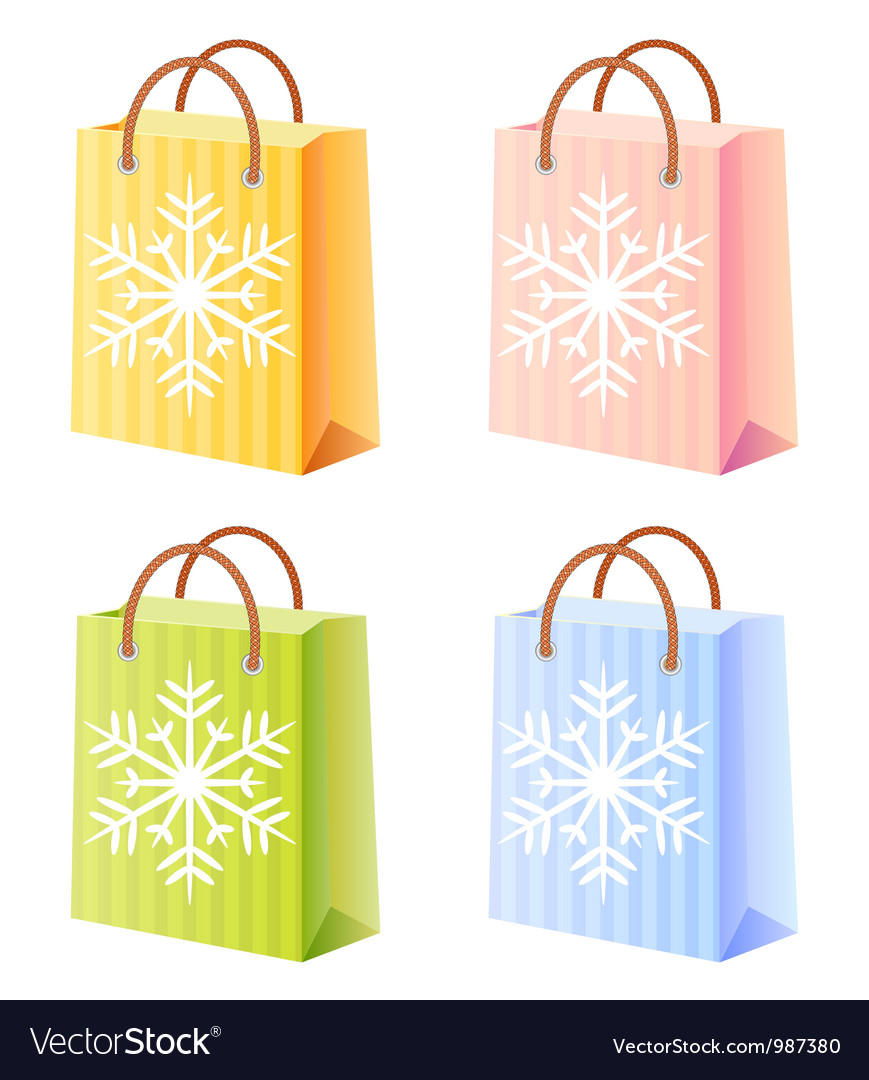 Christmas shopping bag vector | Price: 1 Credit (USD $1)