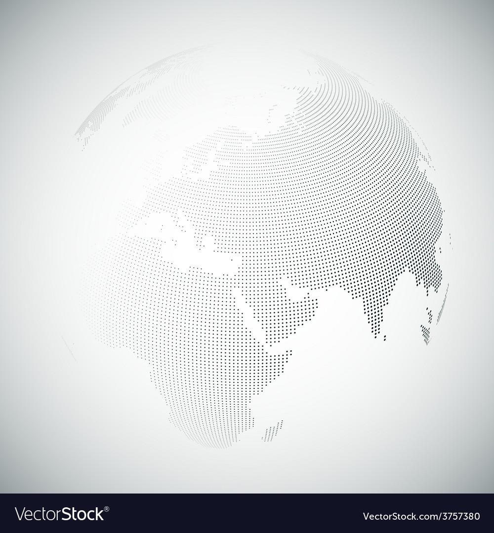 Dotted world globe light design vector | Price: 1 Credit (USD $1)