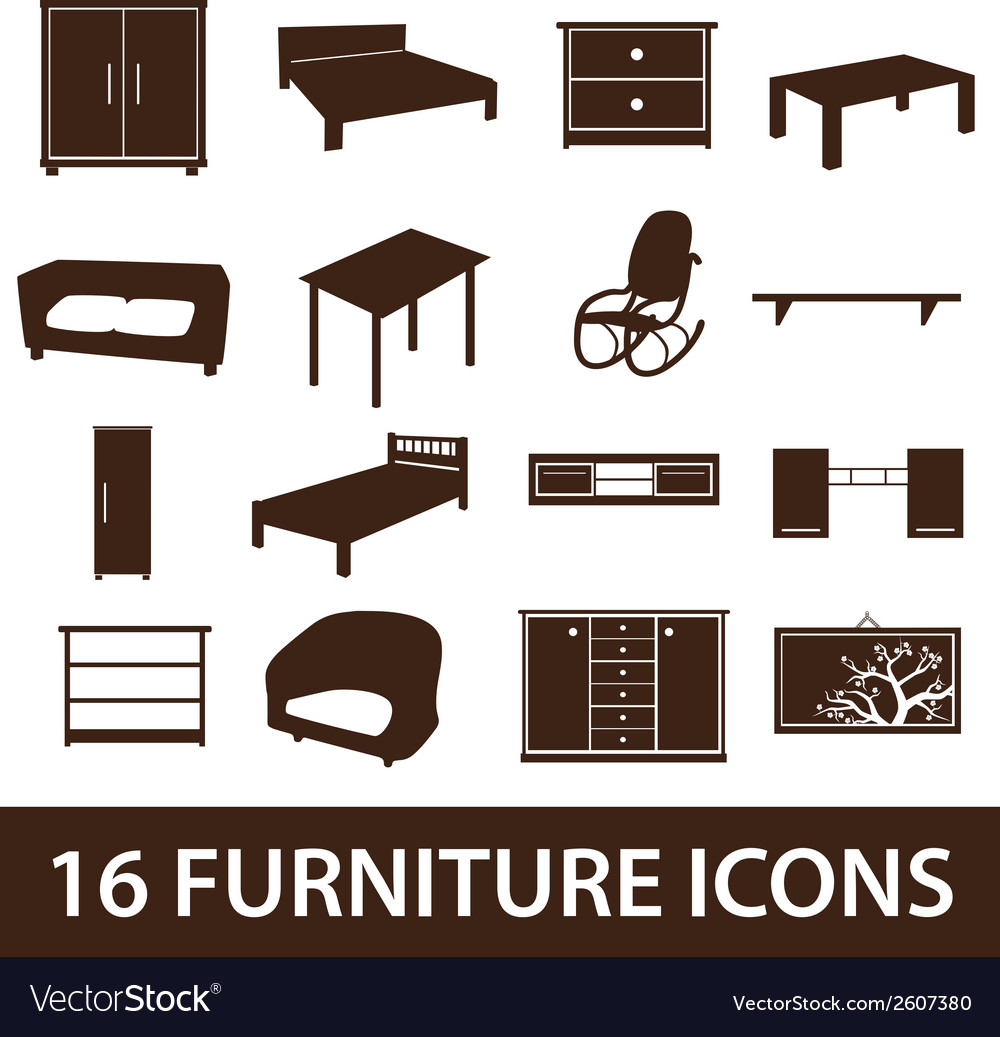 Furniture icons eps10 vector | Price: 1 Credit (USD $1)