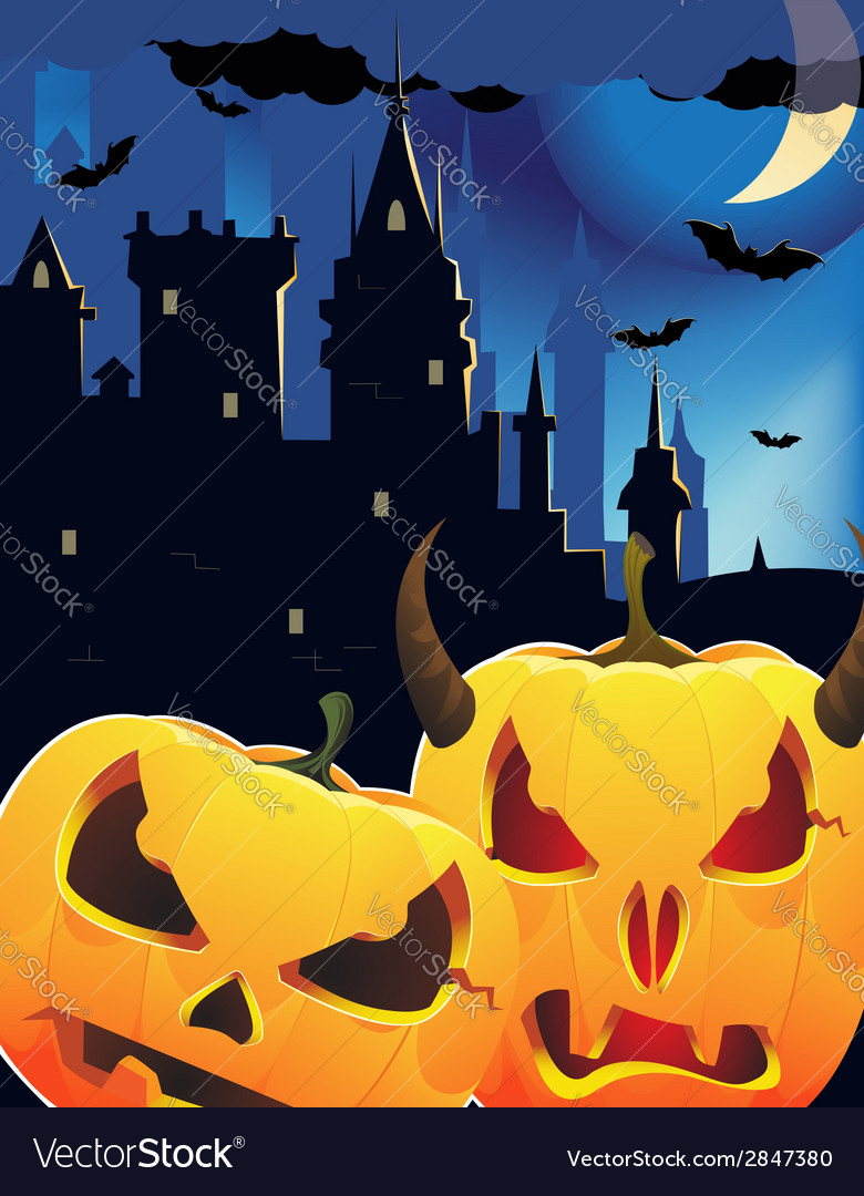 Halloween pumpkin head monsters vector | Price: 1 Credit (USD $1)