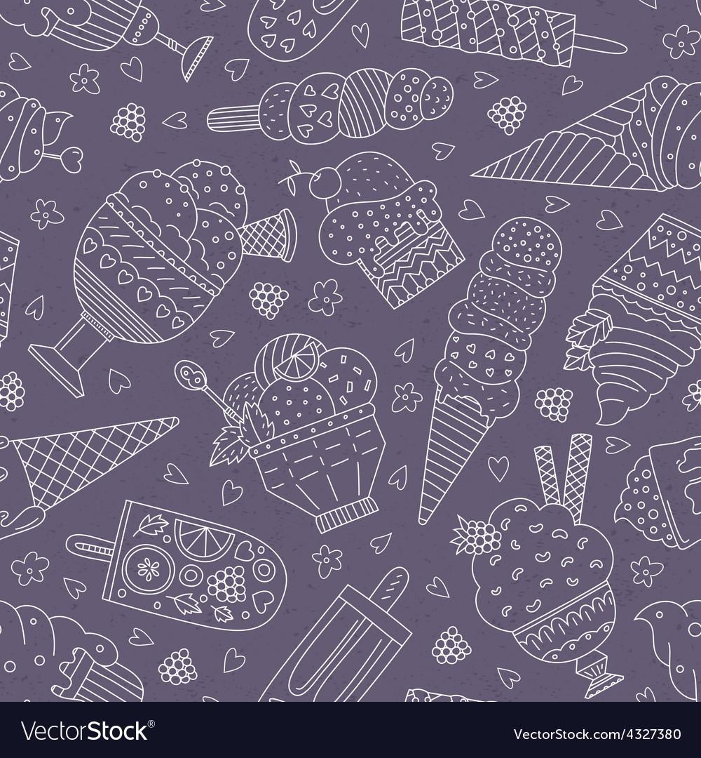 Ice cream pattern vector | Price: 1 Credit (USD $1)