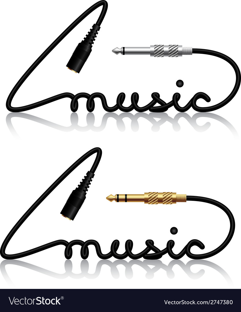 Jack connectors music calligraphy vector | Price: 1 Credit (USD $1)