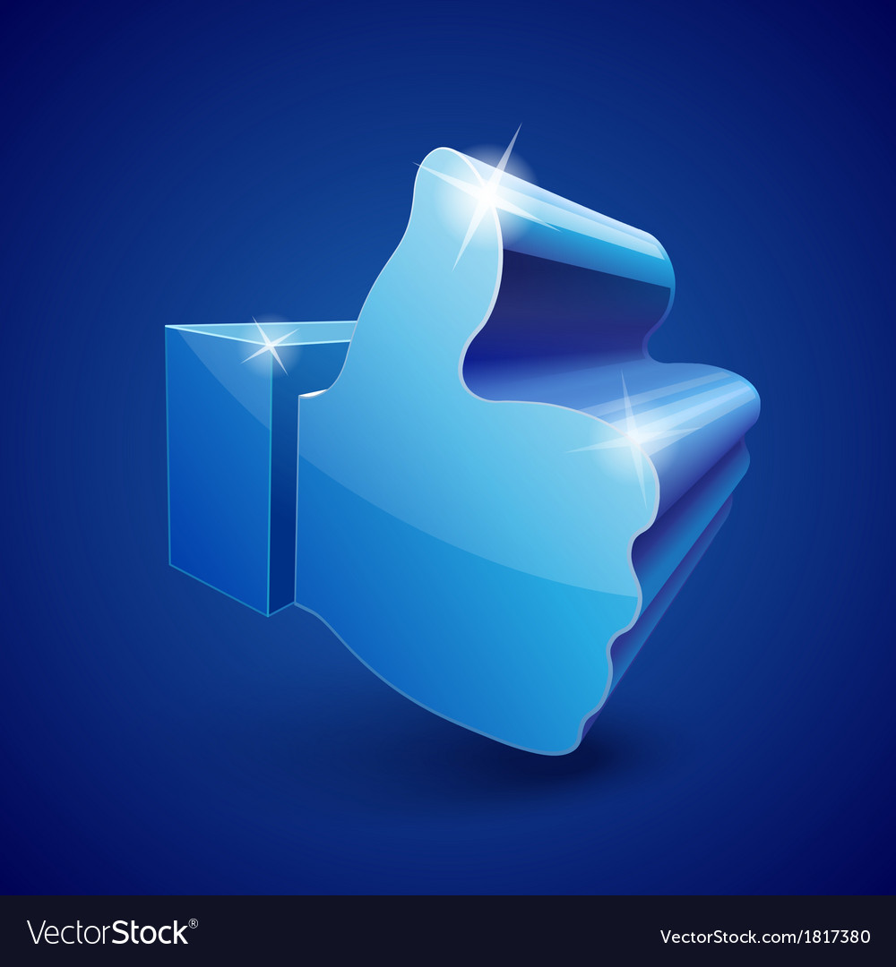 Like symbol on blue background vector   Price: 1 Credit (USD $1)