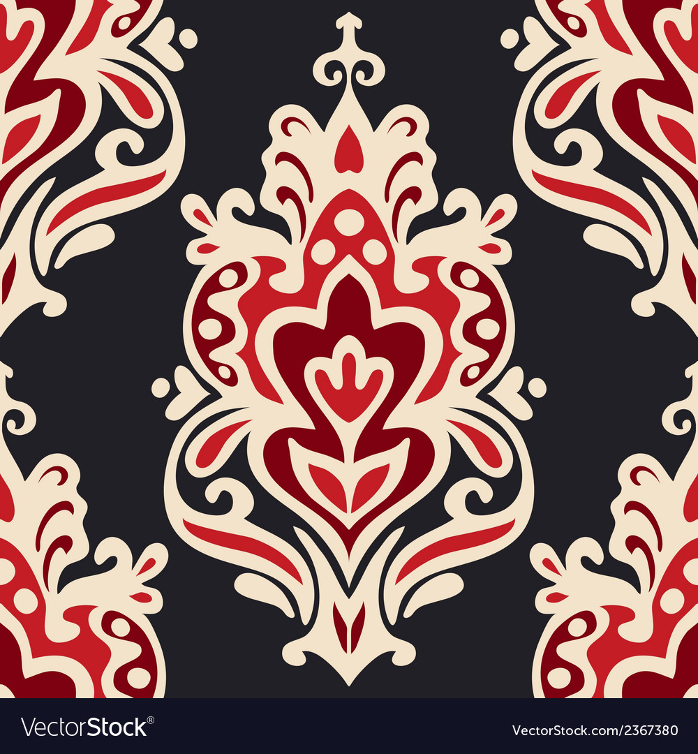 Luxury damask seamles vector | Price: 1 Credit (USD $1)