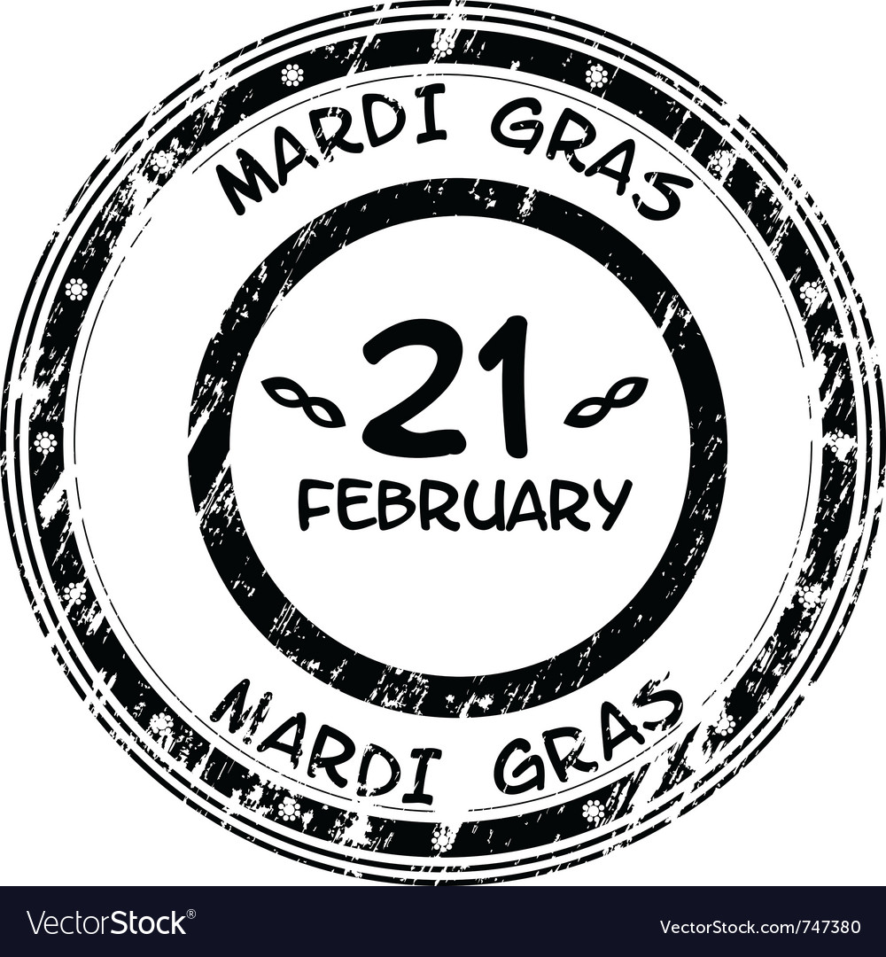 Mardi gras grunge stamp vector | Price: 1 Credit (USD $1)