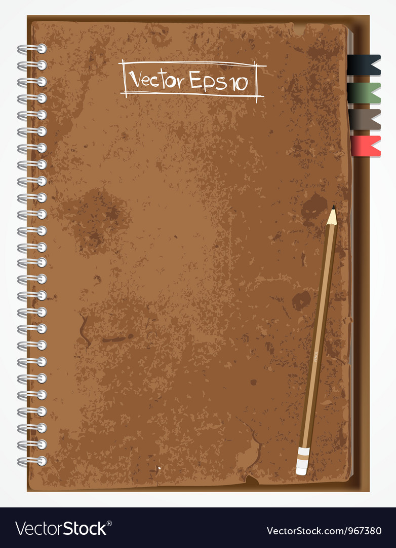 Old brown paper notebook vector | Price: 3 Credit (USD $3)