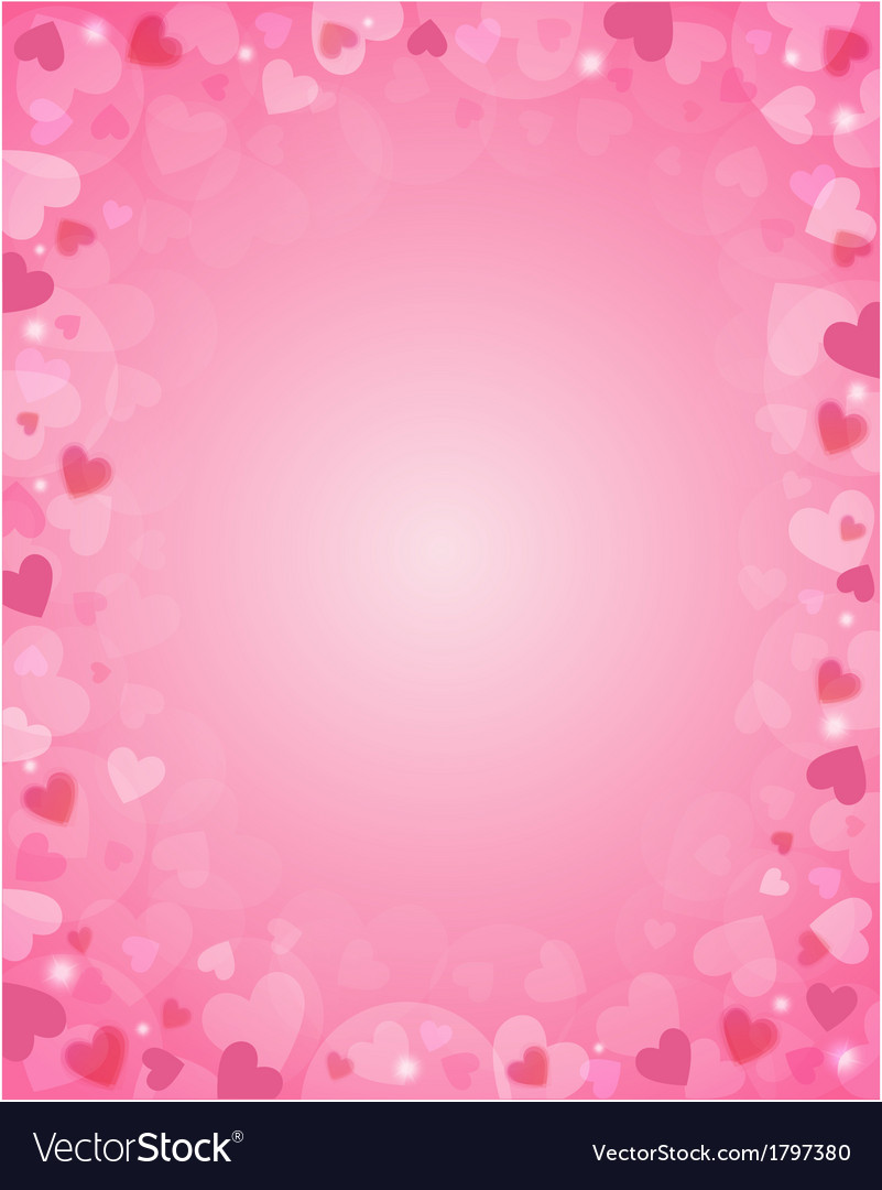 Pink background from hearts vector | Price: 1 Credit (USD $1)