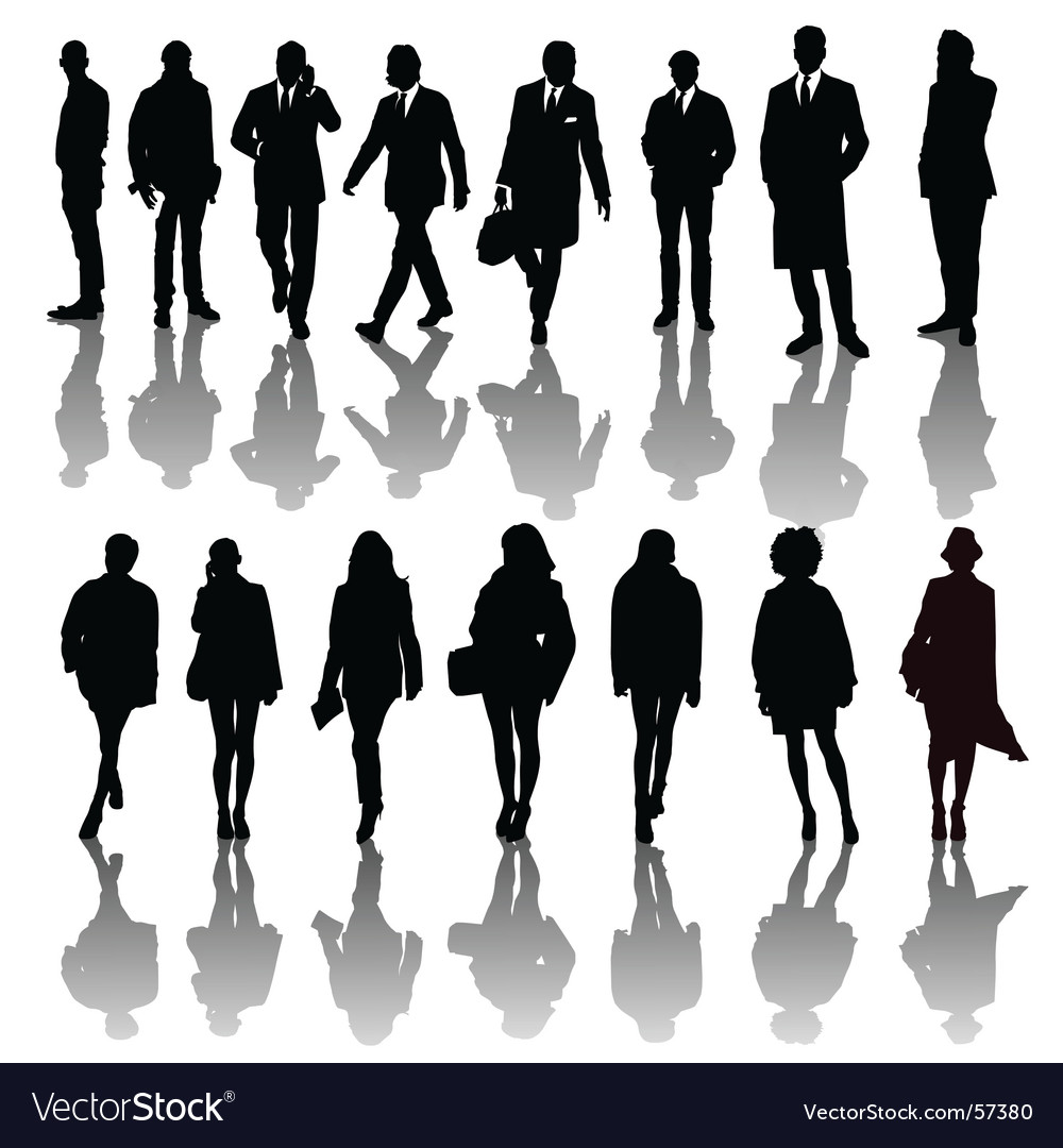 Professional people silhouettes vector | Price: 1 Credit (USD $1)