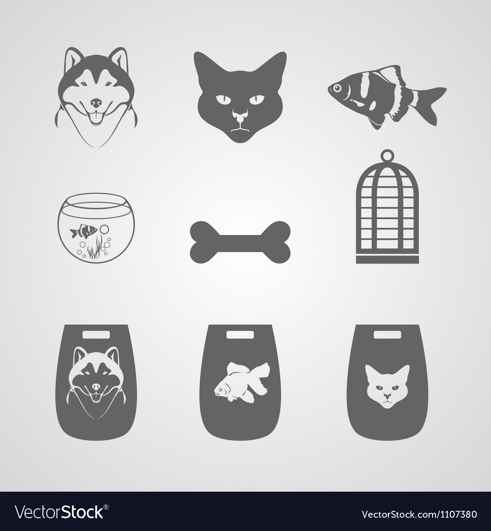 Set icon for pets shop vector | Price: 1 Credit (USD $1)
