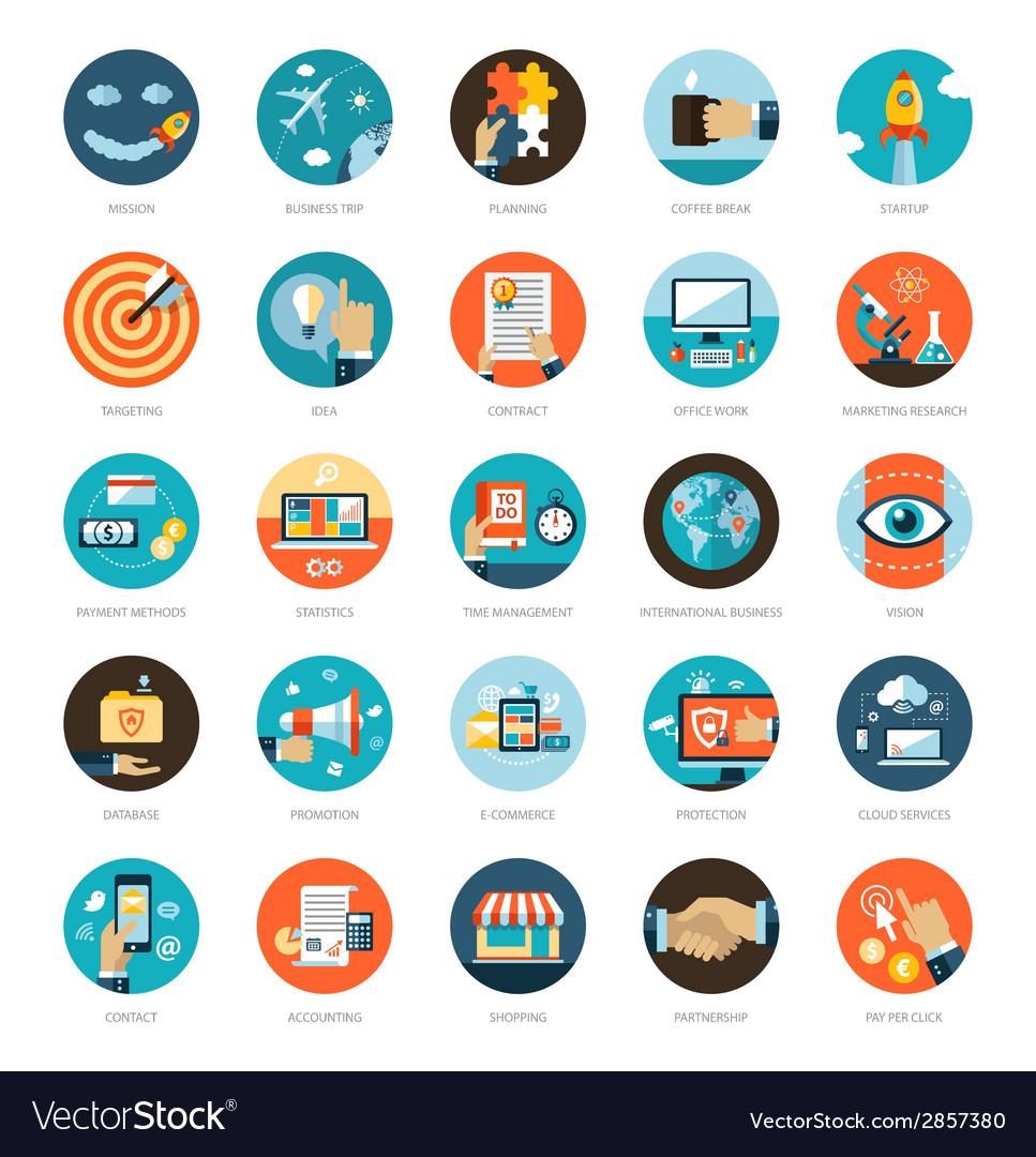 Set of modern flat design business infographics vector   Price: 1 Credit (USD $1)