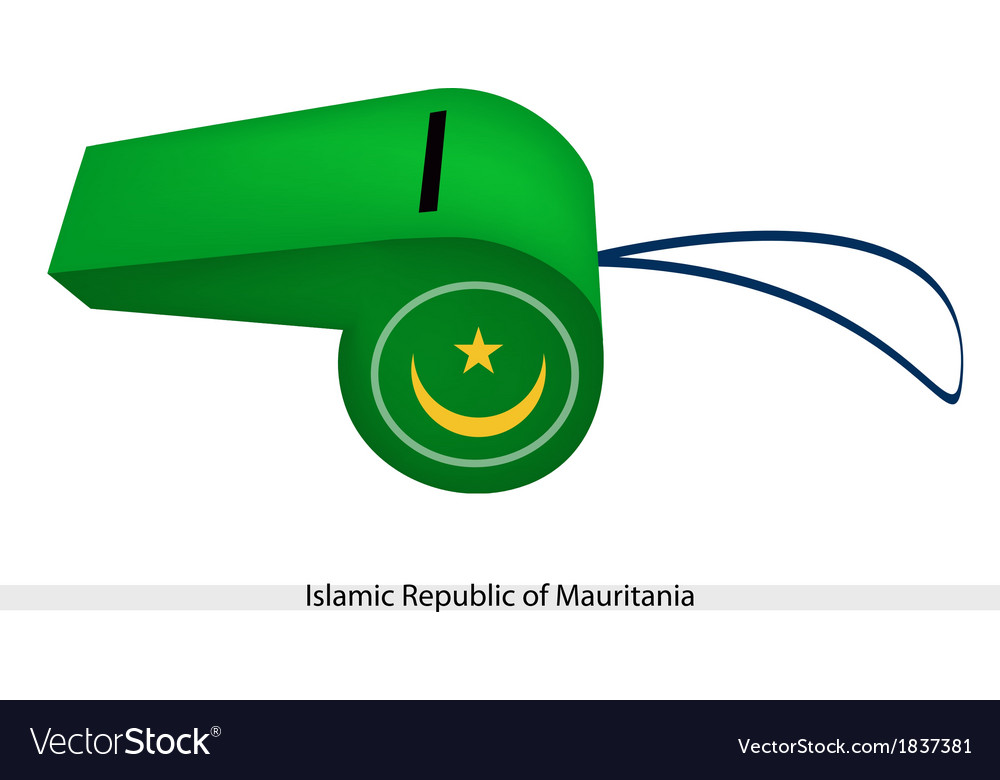 A whistle of islamic republic of mauritania vector | Price: 1 Credit (USD $1)