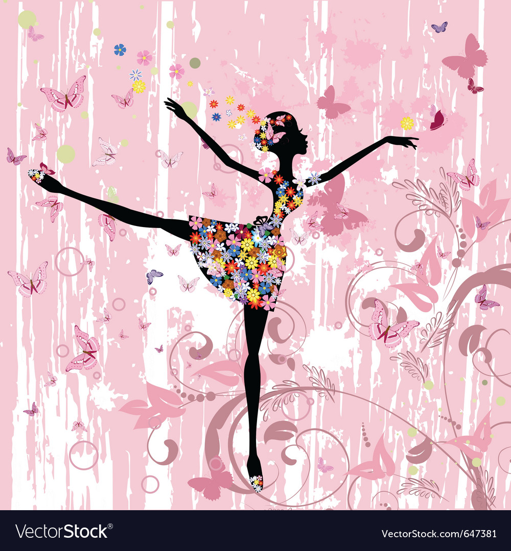 Ballerina girl vector | Price: 1 Credit (USD $1)