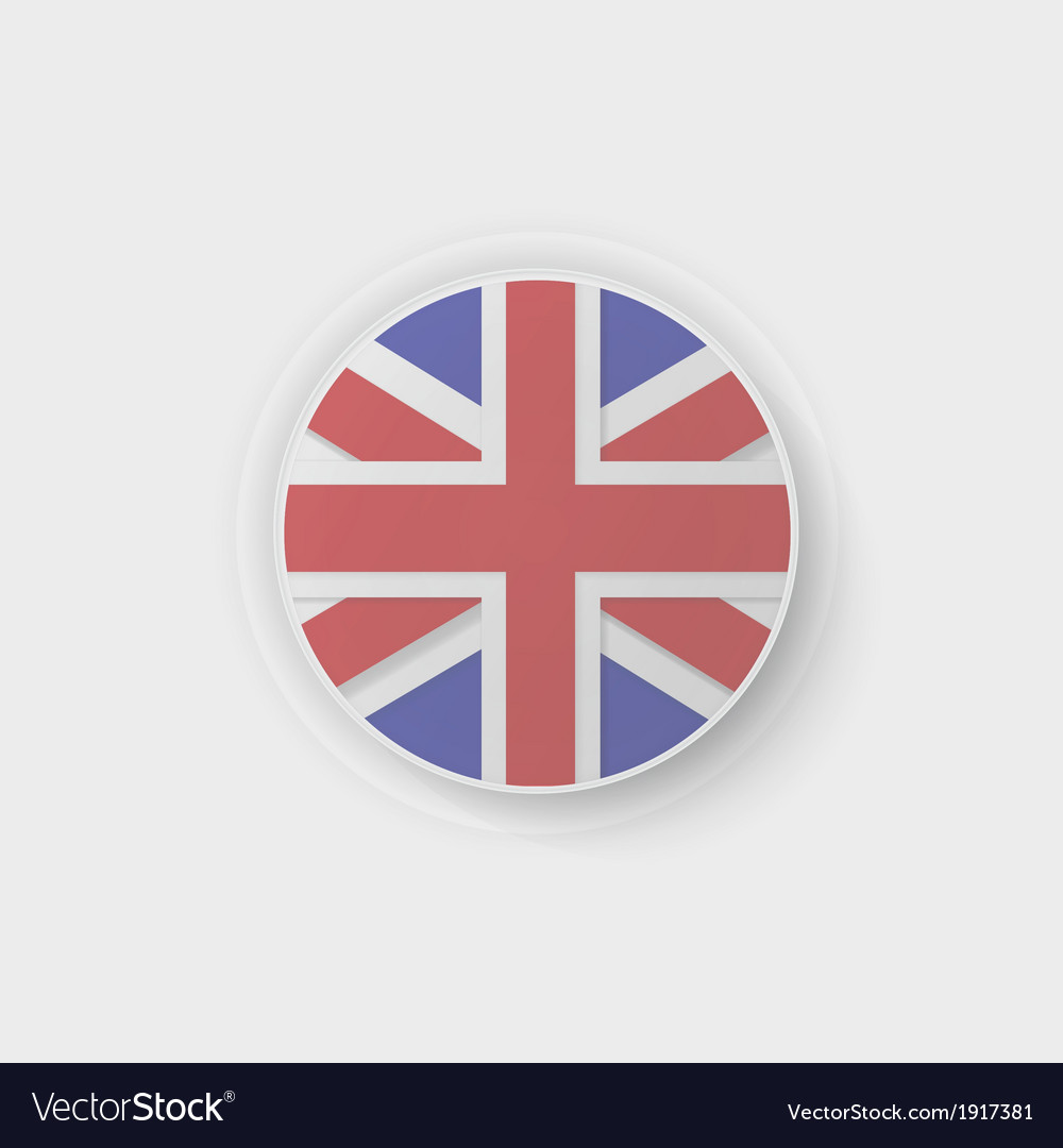 Britain flag button vector | Price: 1 Credit (USD $1)
