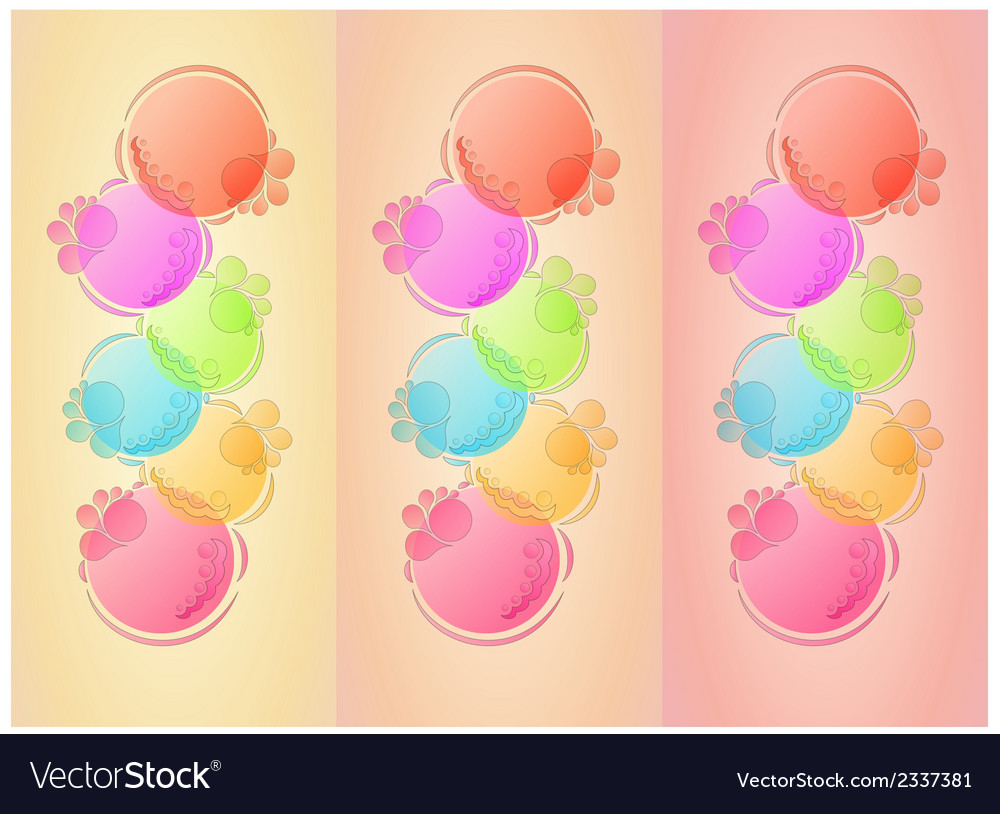 Bubbles background with three lines vector | Price: 1 Credit (USD $1)