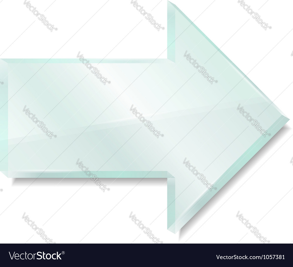 Glass arrow vector | Price: 1 Credit (USD $1)