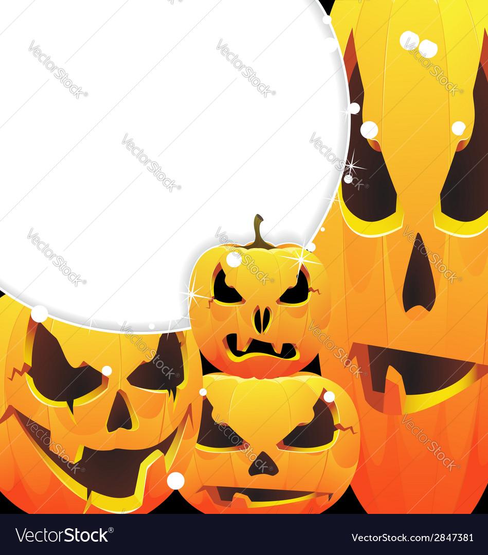 Halloween pumpkins jack o lanterns vector | Price: 1 Credit (USD $1)