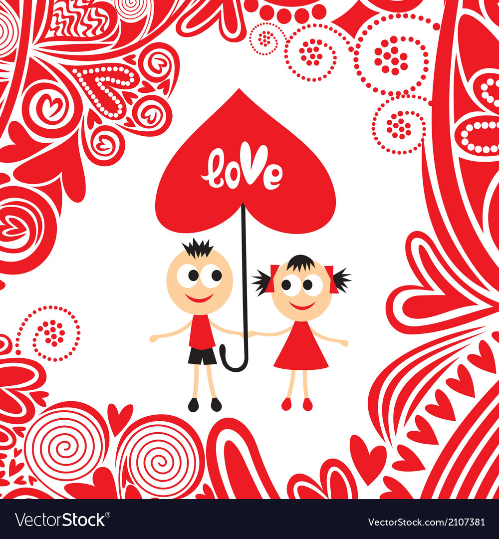 Pair love valentines day vector | Price: 1 Credit (USD $1)
