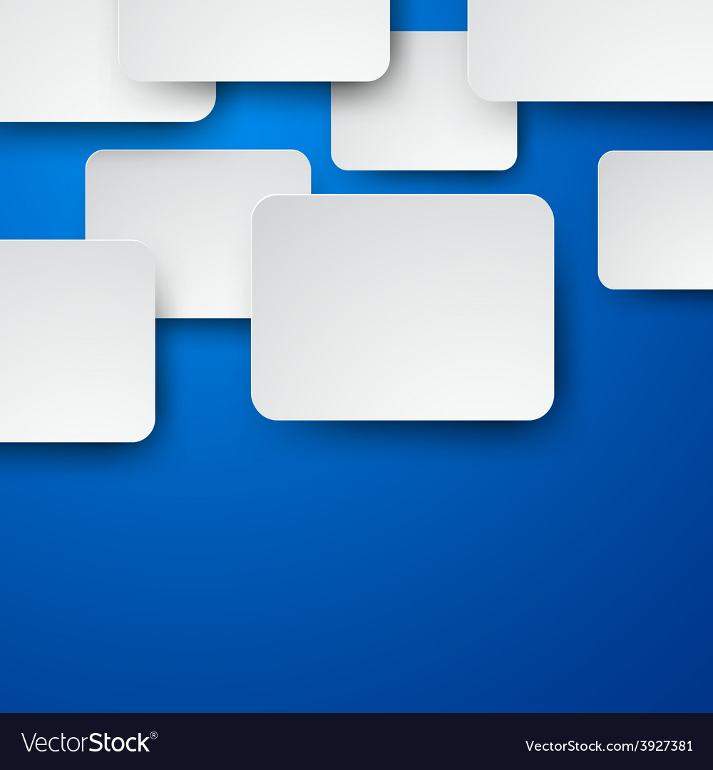 Paper white notes on blue vector | Price: 1 Credit (USD $1)