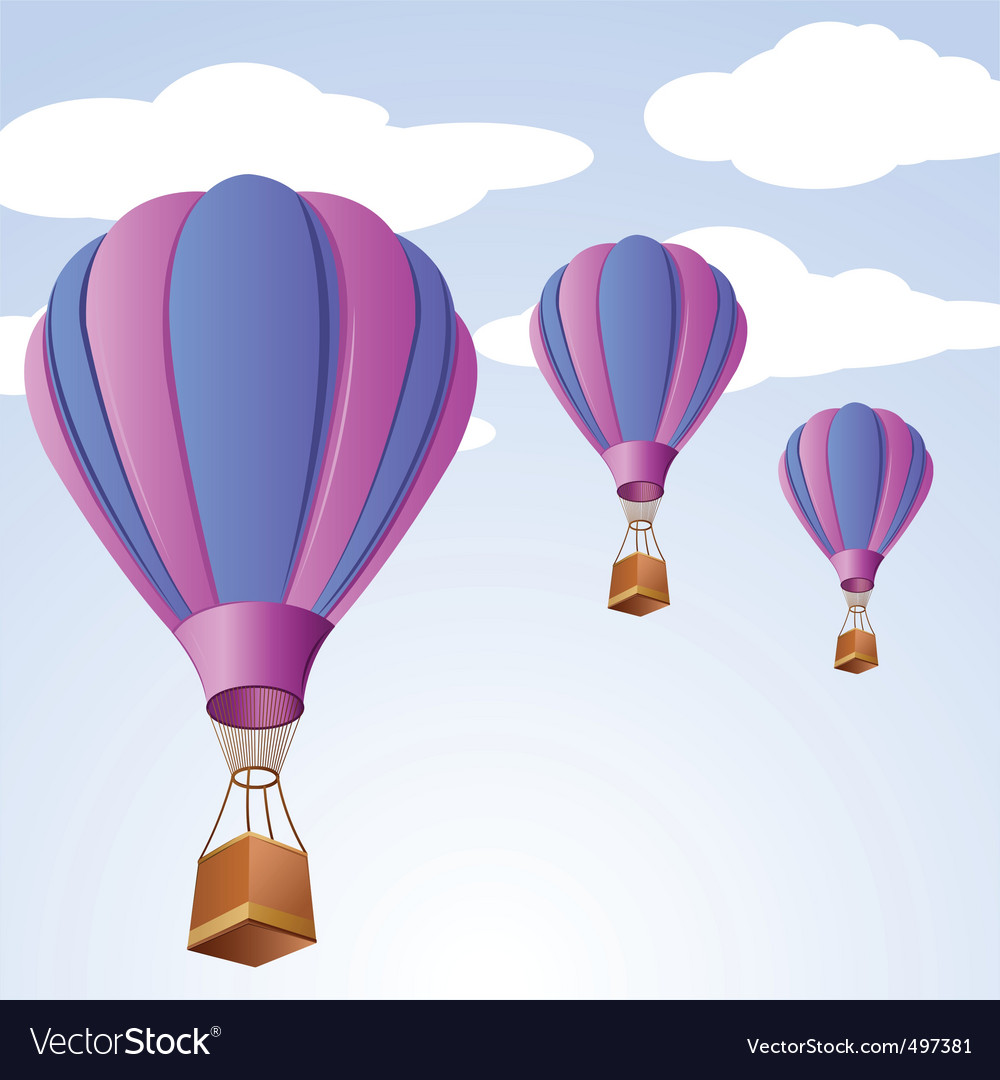 Parachute in sky vector | Price: 1 Credit (USD $1)