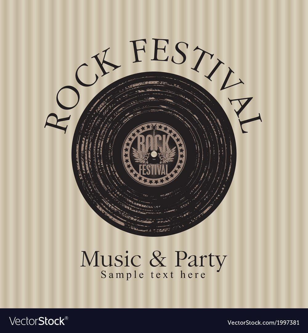 Rock music party vector | Price: 1 Credit (USD $1)