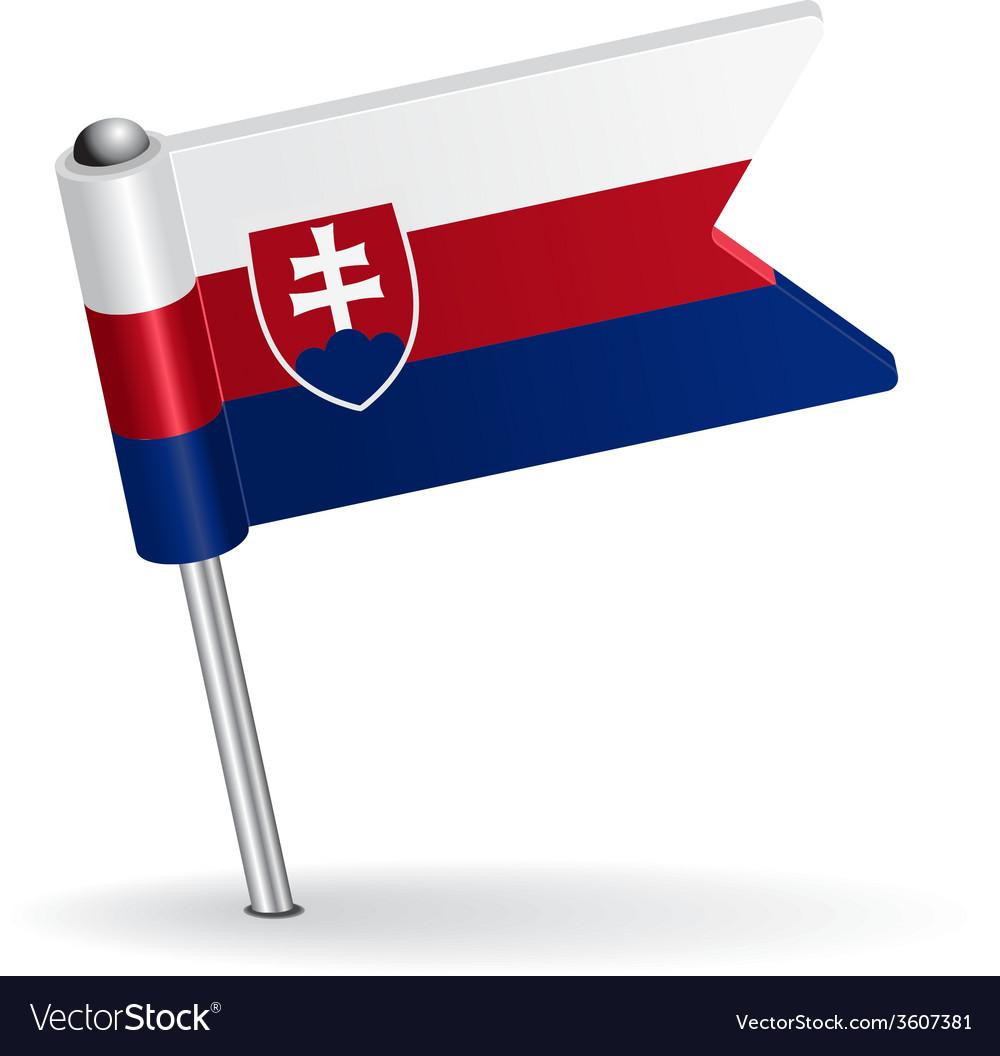 Slovak pin icon flag vector | Price: 1 Credit (USD $1)