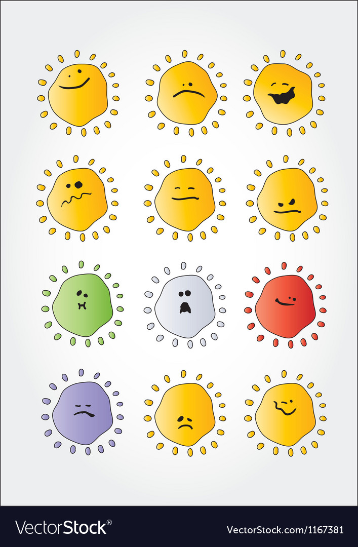 Smile set 02 vector | Price: 1 Credit (USD $1)