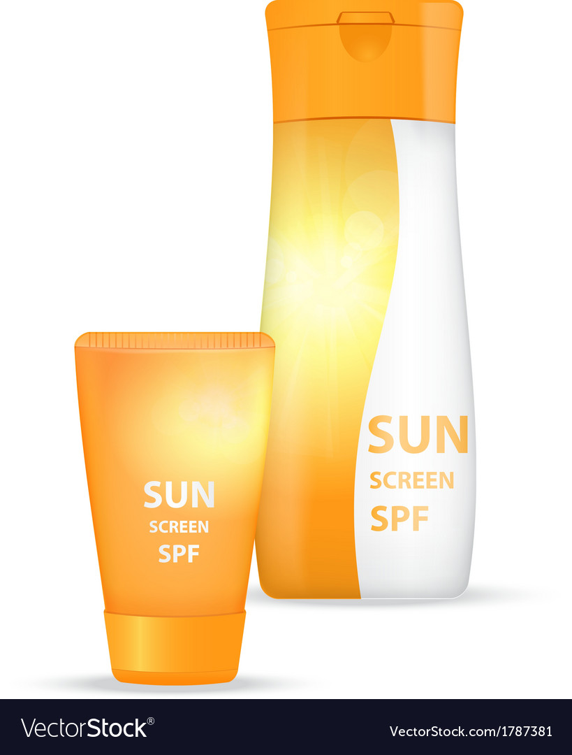 Sunblock body lotions vector | Price: 1 Credit (USD $1)