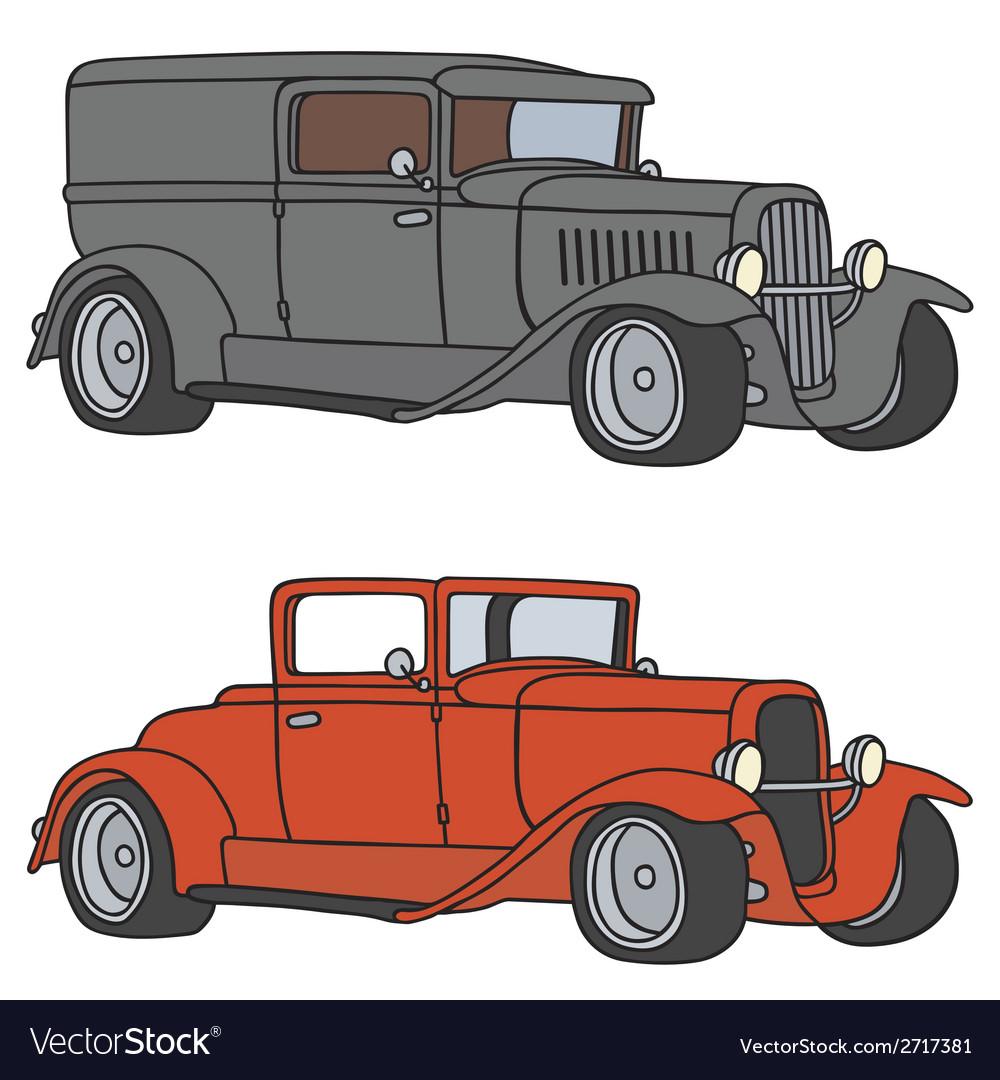 Vintage cars vector | Price: 1 Credit (USD $1)
