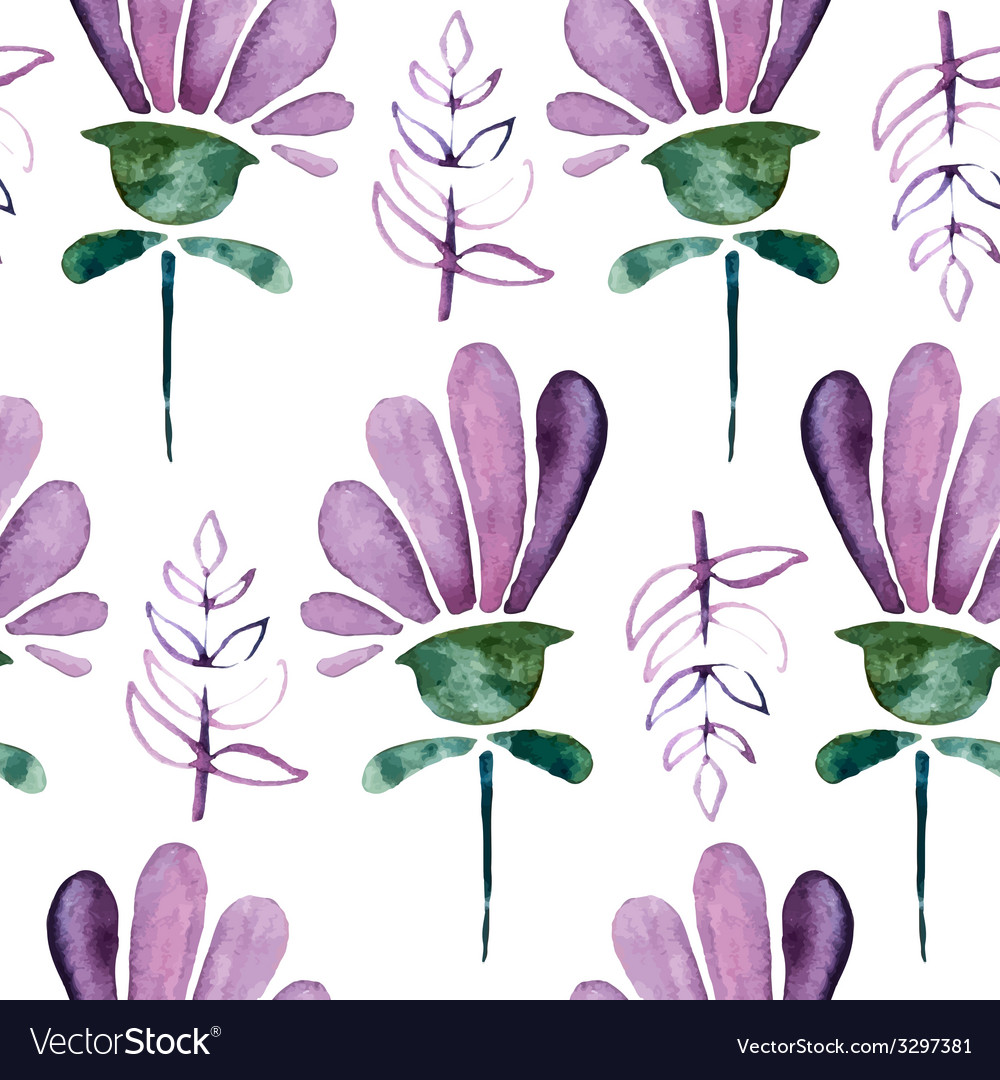 Watercolor seamless pattern vector | Price: 1 Credit (USD $1)