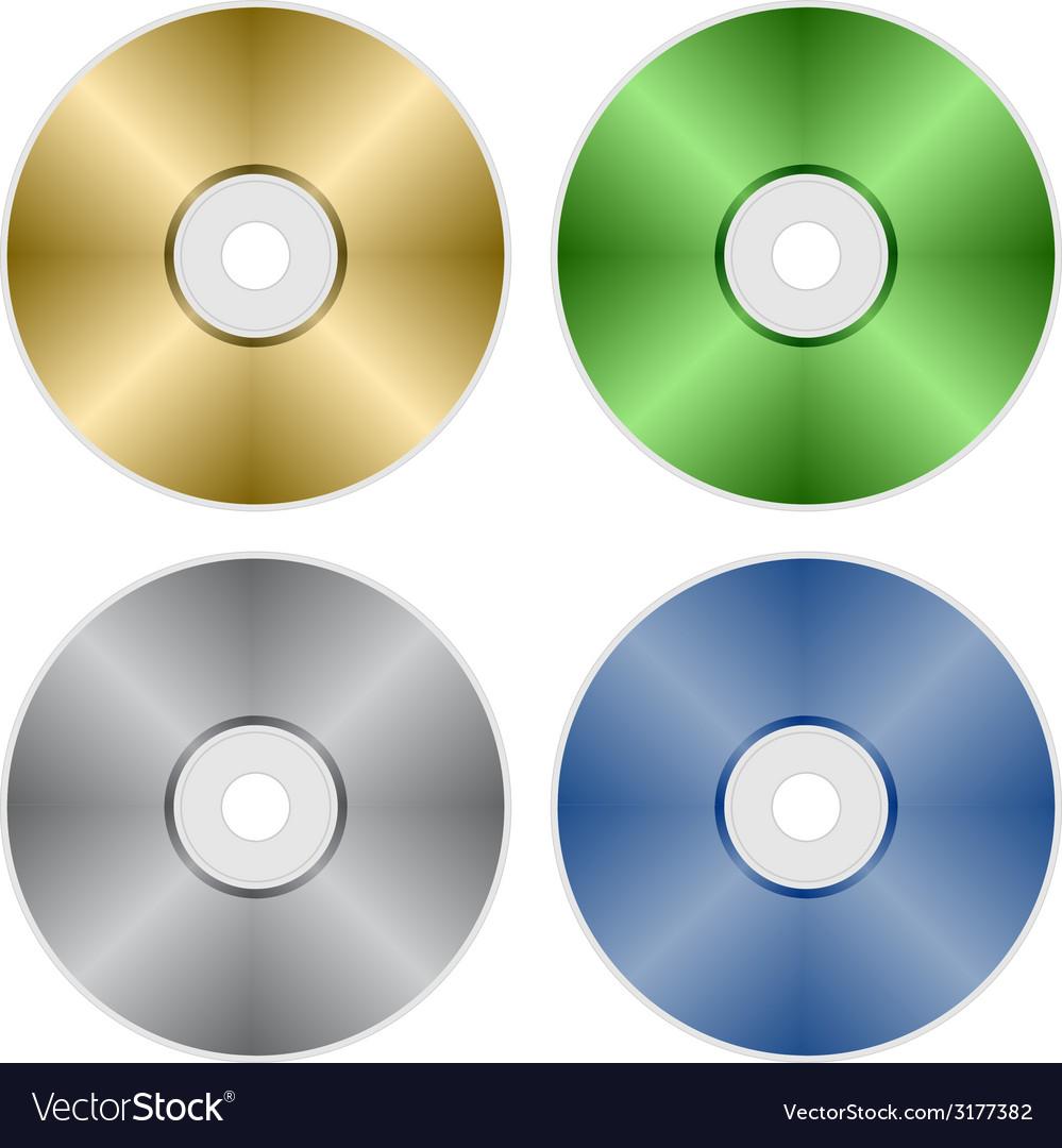 Compact discs vector | Price: 1 Credit (USD $1)