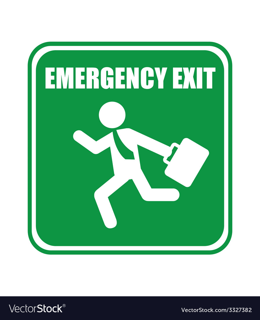 Emergency exit design vector | Price: 1 Credit (USD $1)