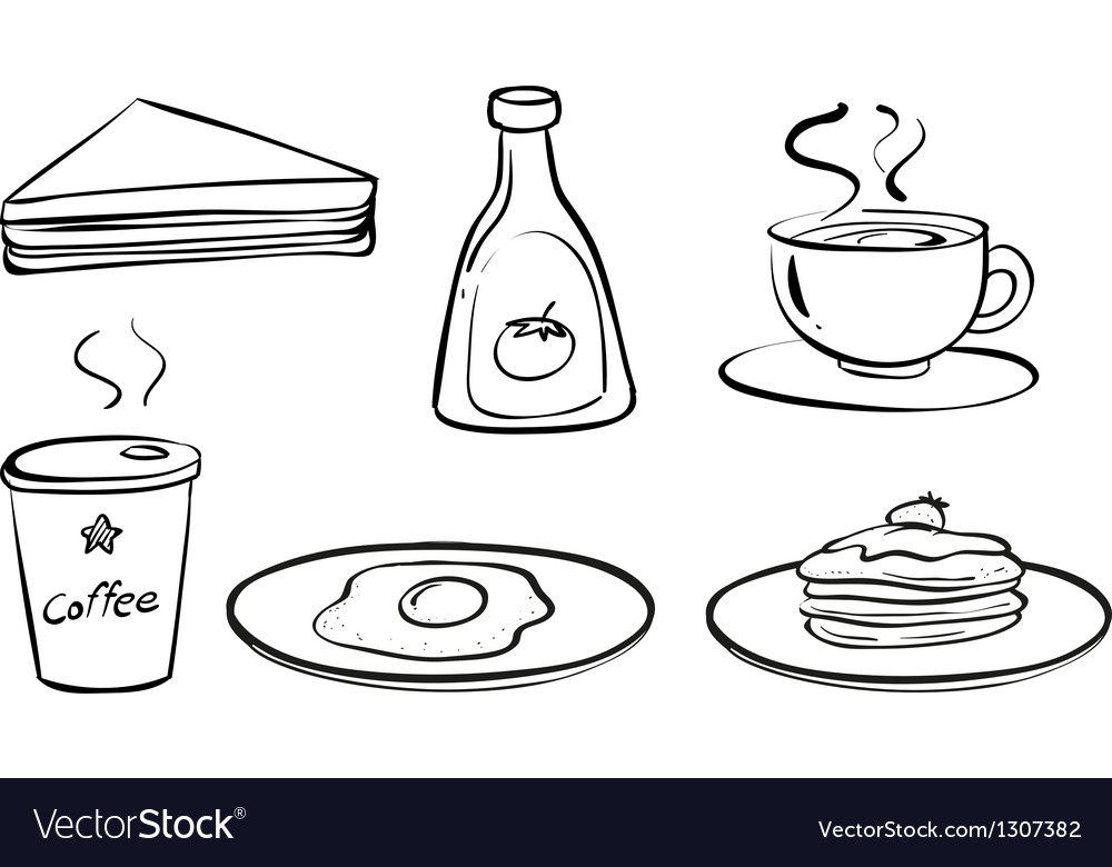 Foods and drinks for breakfast vector | Price: 1 Credit (USD $1)