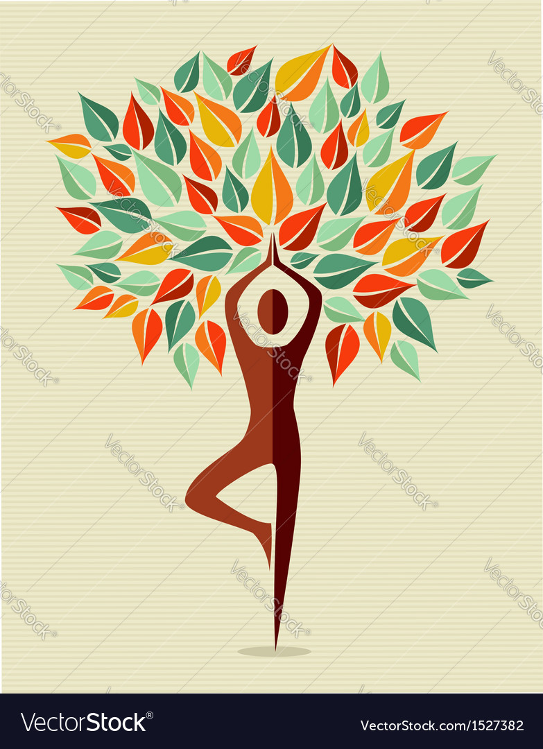 India colorful yoga leaf tree vector | Price: 1 Credit (USD $1)