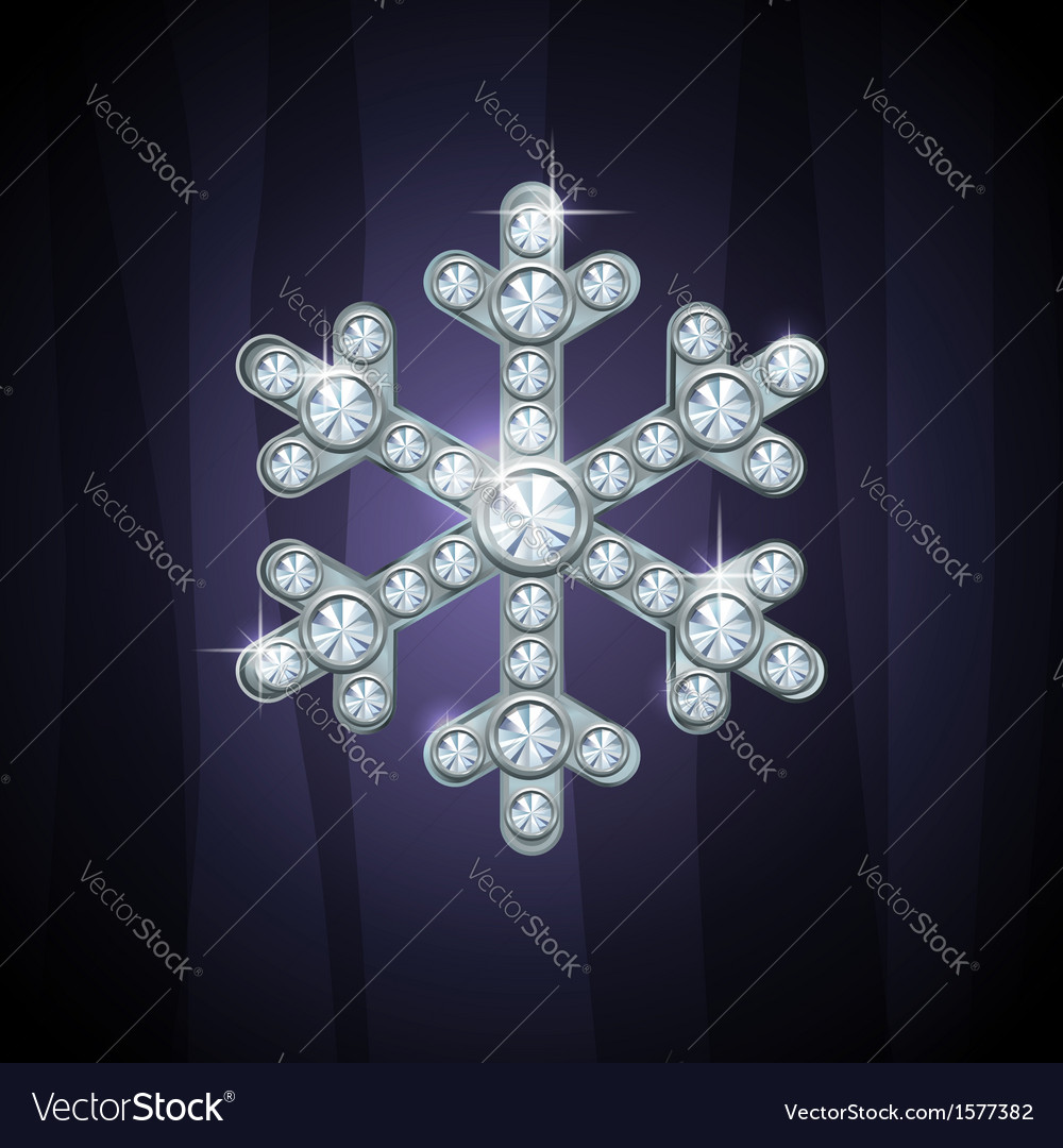 Jewel snow silver vector | Price: 1 Credit (USD $1)